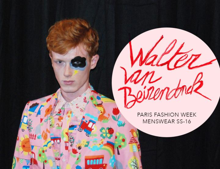Paris Fashion Week Homme SS16 : Walter Van Beirendonck