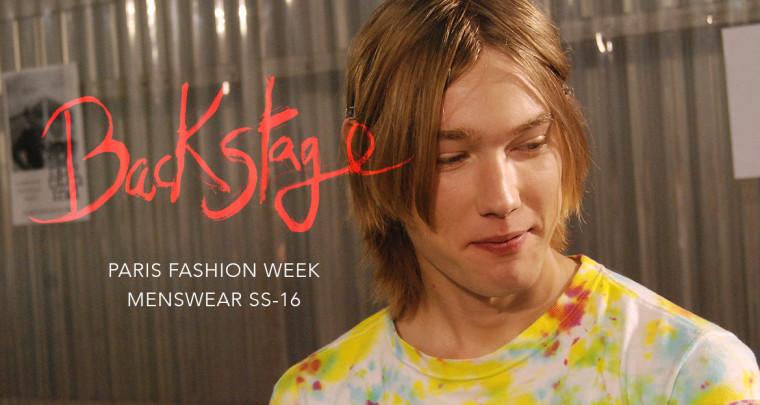 Paris est une fête : Paris Fashion Week Homme SS16 Backstage