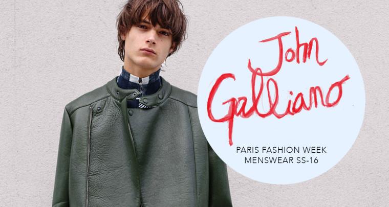 Paris Fashion Week Homme SS16 : John Galliano