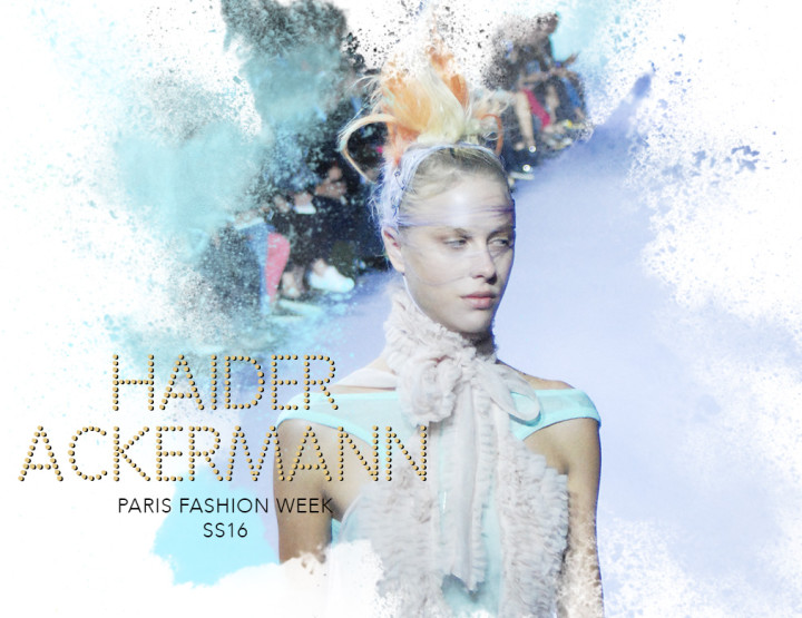 Paris Fashion Week SS16 : Haider Ackermann