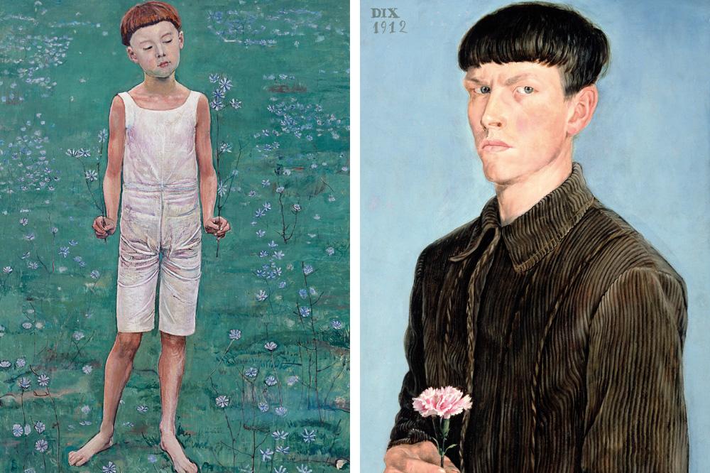 """""""Adoration"""" de Ferdinand Hodler ; """"Autoportrait"""" d'Otto Dix"""