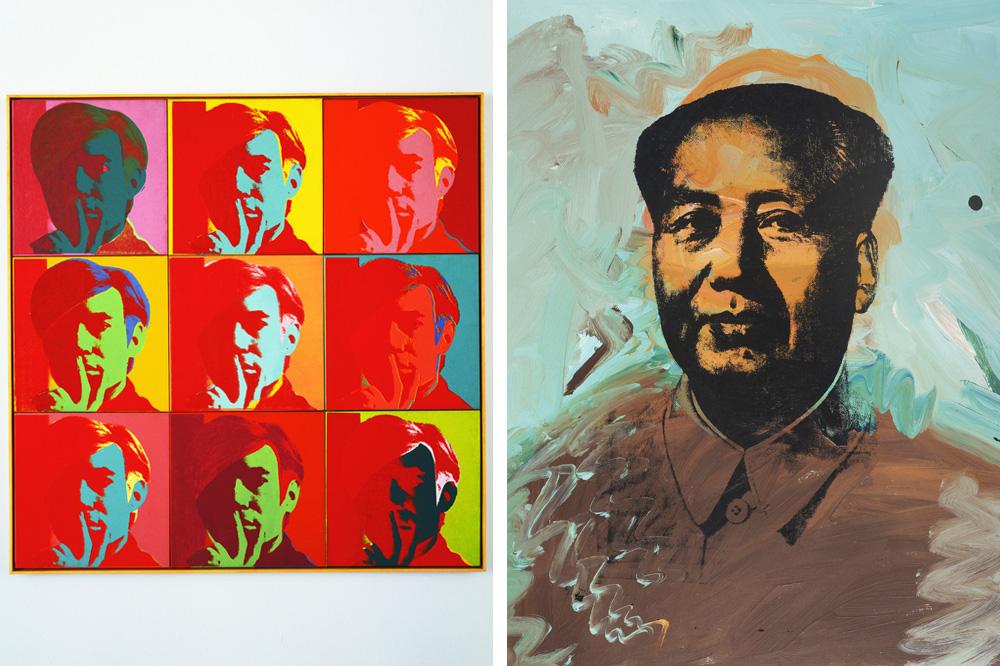 """Self portrait"", ""Mao"" d'Andy Warhol"