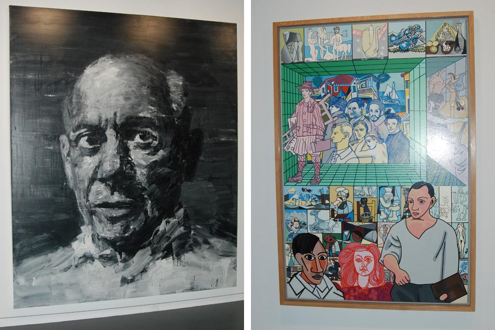 """""""Portrait de Picasso"""" de Yan Pei-Ming ; """"Picasso"""" d'Erro"""