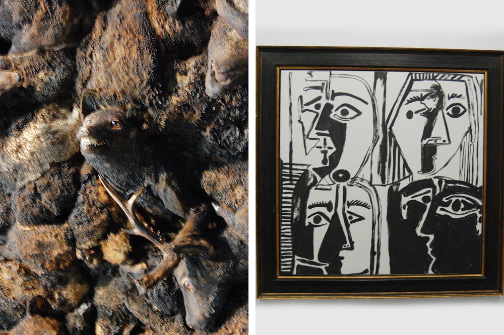 """""""Qui a peur du grand méchant loup ?"""" d'Adel Abdessemed"""" ; """"Têtes"""" d'Andy Warhol"""