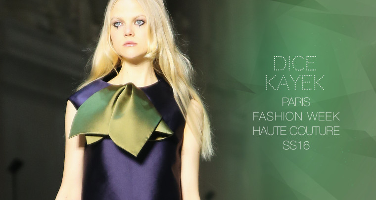Paris Fashion Week Haute Couture SS16 : Dice Kayek