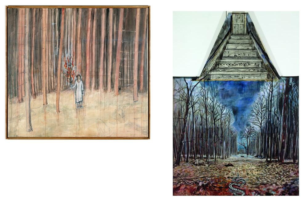 """Mann im Wald"" ; Resurrexit"" d'Anselm Kiefer"