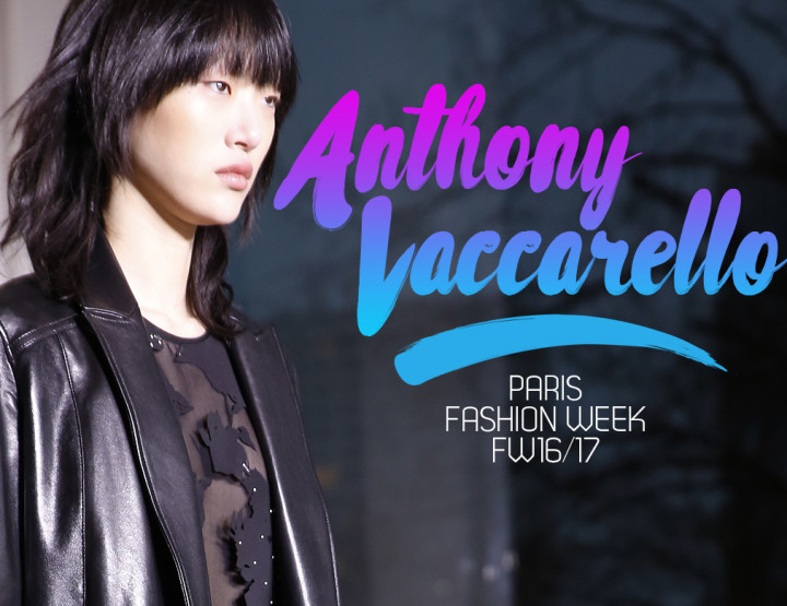 Paris Fashion Week FW16/17 : Anthony Vaccarello