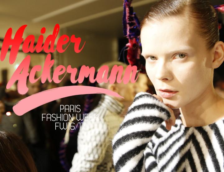Paris Fashion Week FW16/17 : Haider Ackermann