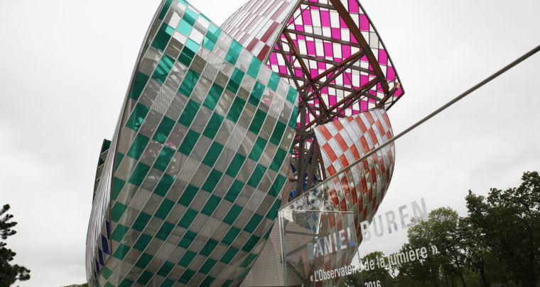 Daniel Buren à la Fondation Louis Vuitton