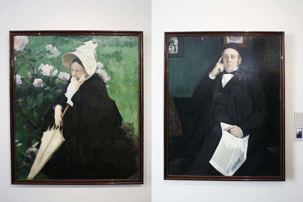 La mère de l'artiste ; Le docteur Emile Blanche, père de l'artiste