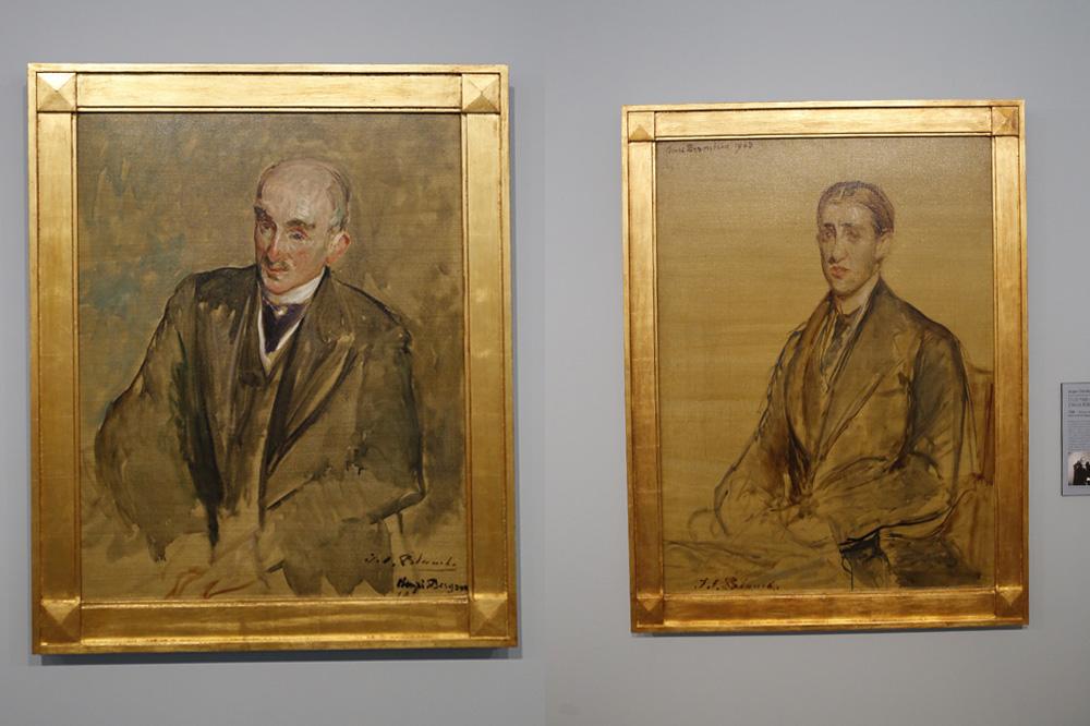 Etude pour le portrait d'henri Bergson ; Etude pour le portrait d'Henri Bernstein