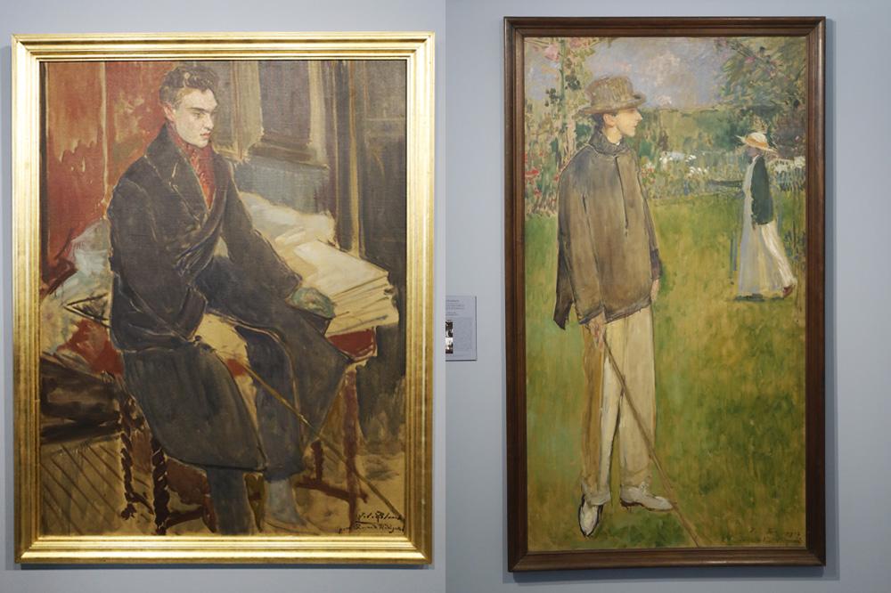 Etude pour le portrait en pied de Raymond Radiguet ; Jean Cocteau dans le jardin d'Offranville