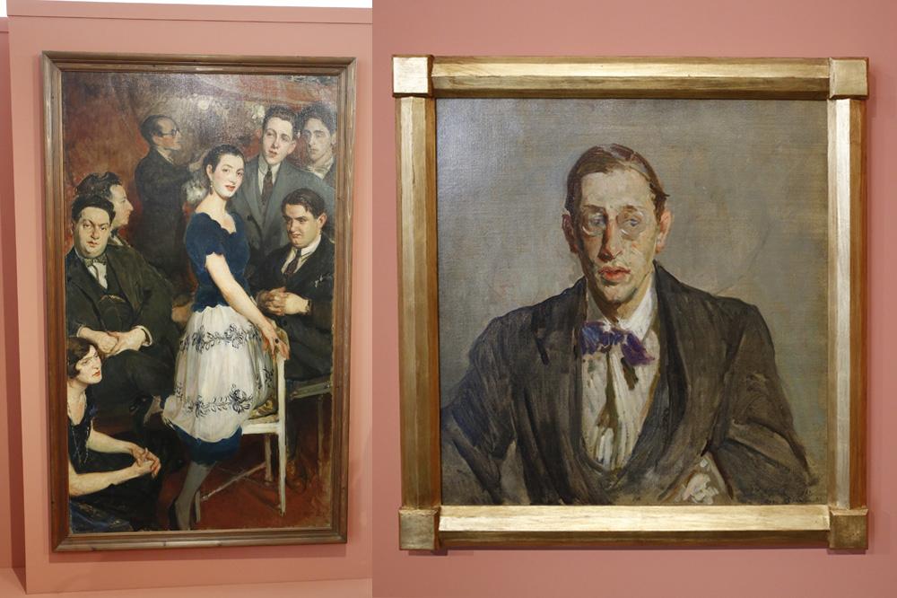 Le groupe des six : Georges Auric, Louis Durey, Arthur Honegger, Darius Milhaud, Francis Poulenc et germaine Taillefferre ; Etude pour le portrait d'Igor Stravinsky