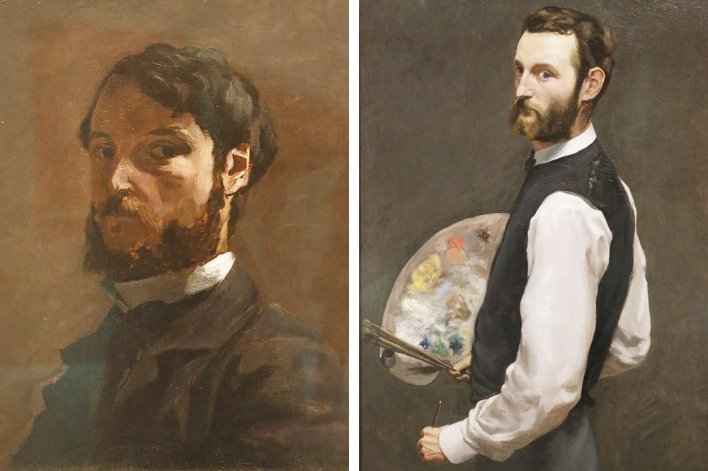 Autoportraits de l'artiste Frédéric Bazille