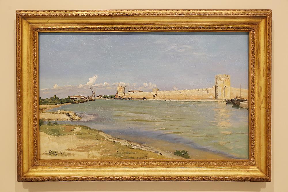 """""""Les remparts d'Aigues-Mortes, du côté couchant"""" 1867 de Frédéric Bazille"""