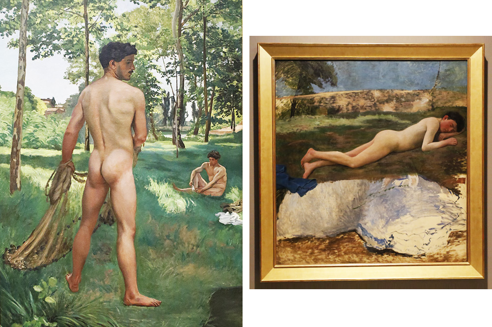 """""""Le pêcheur à l'épervier"""" 1868 - """"Etude de jeune homme nu"""" 1870 de Frédéric Bazille"""