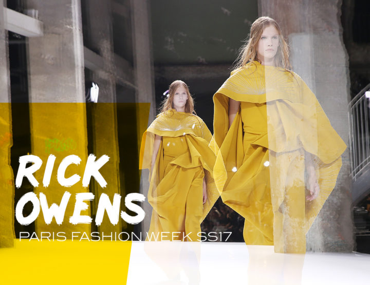 Paris Fashion Week SS17 : Rick Owens