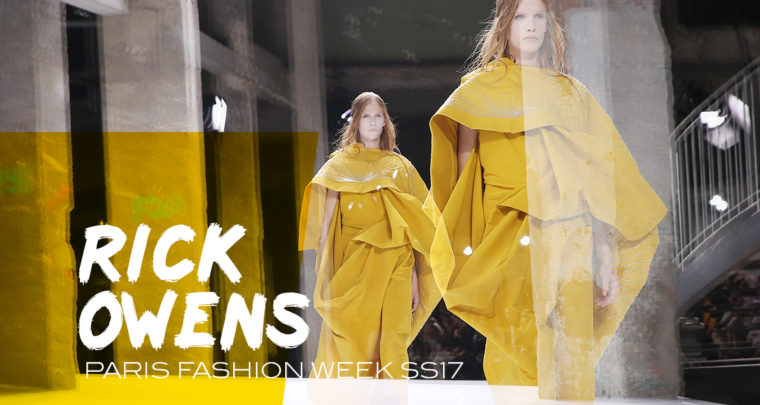 Paris Fashion Week SS17 : Rick Owens