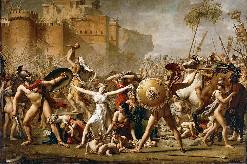 """""""Les Sabines"""" de Jacques Louis David - 1799"""