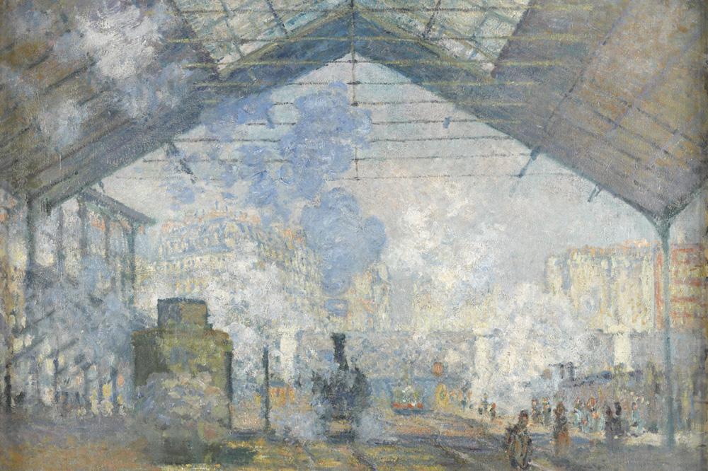"""""""La Gare Saint-Lazare"""" de Claude Monet - 1877"""