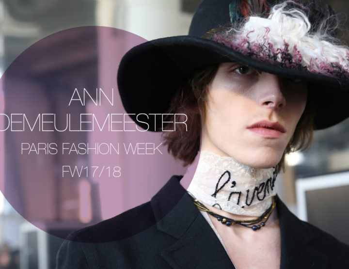 Paris Fashion Week Homme FW17/18 : Ann Demeulemeester