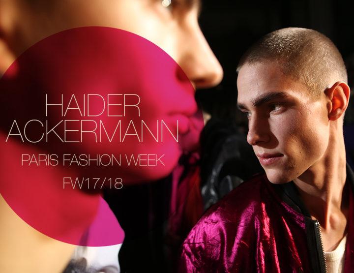 Paris Fashion Week Homme FW17/18 : Haider Ackermann