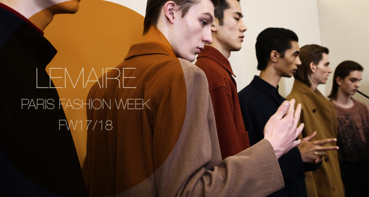 Paris Fashion Week Homme FW17/18 : Lemaire