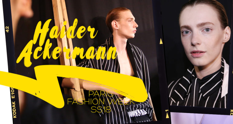 Paris Fashion Week Homme SS18 : Haider Ackermann